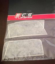 ゴルフ R ヴァリアントECS Tuning ECS Front Bumper Side Vinyl Inlay Set Gloss Blackの単体画像