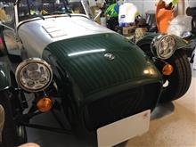セブン160SUPAREE ハーレーダビッドソン用 5.75inch LEDヘッドライトライト ポジション機能付き インナークロームの単体画像