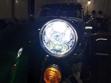 セブン160SUPAREE ハーレーダビッドソン用 5.75inch LEDヘッドライトライト ポジション機能付き インナークロームの全体画像