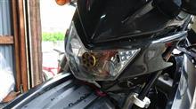 DR-Z400SMStreet Cat 改良鍍金版 H4 バイク用ledヘッドライト 12V-80V 20W 対応 Hi/Lo切替 M4 冷却ファンの単体画像