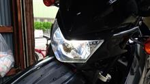 DR-Z400SMStreet Cat 改良鍍金版 H4 バイク用ledヘッドライト 12V-80V 20W 対応 Hi/Lo切替 M4 冷却ファンの全体画像