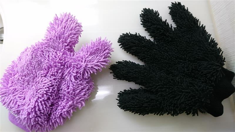 不明 YOUNG.MOTO Purple Ultrafine Fiber Chenille Anthozoan Car Wash Clean Gloves Coral Fleece Auto House H