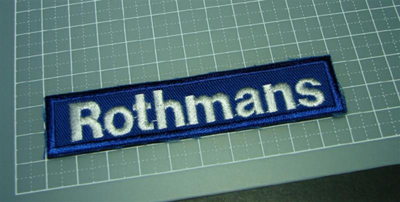 ヤフオクにて入手 Rothmansワッペン