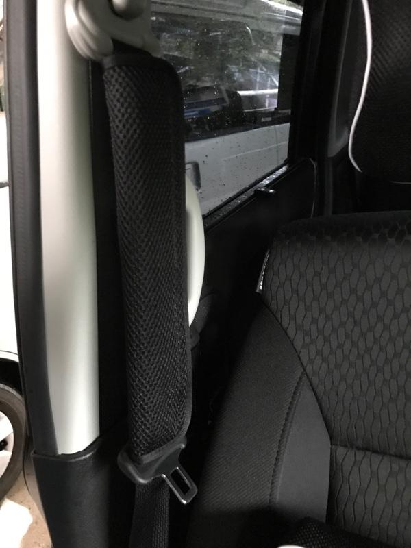 BONFORM シートベルトパッド メッシュ 低反発ウレタン ブラック