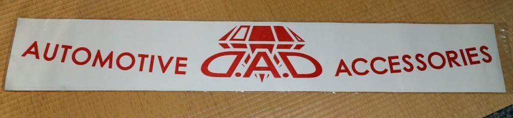 D.A.D / GARSON  D.A.D ウインドウステッカー
