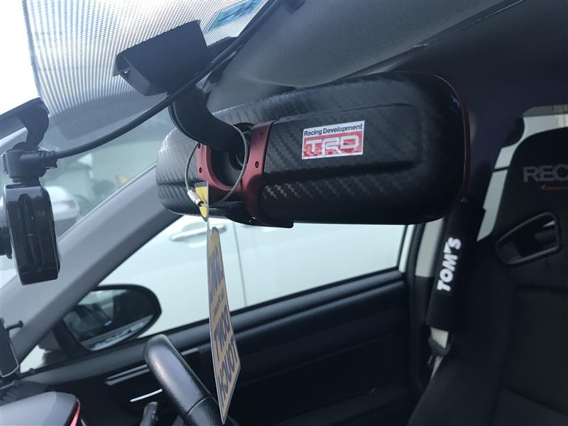 CAR MATE / カーメイト 3000R ルームミラー カーボン調 レッド 240 / DZ363