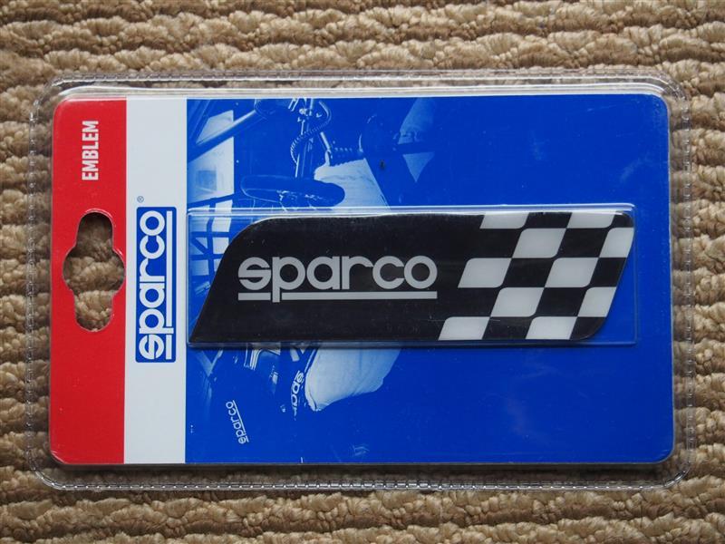☆Sparco スパルコ 3Dエンブレムステッカー チェッカーフラッグ/ブラック SPC4201