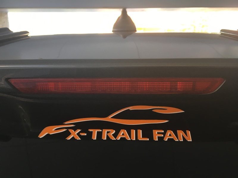 X-TRAIL FAN チームステッカー 限定色オレンジ