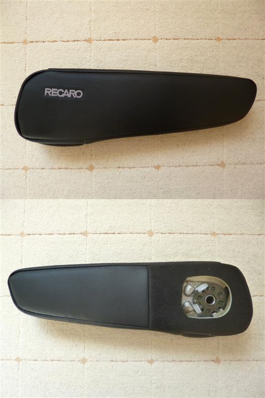 RECARO アームレスト TYPE-F フェイクレザーブラック (左席用)