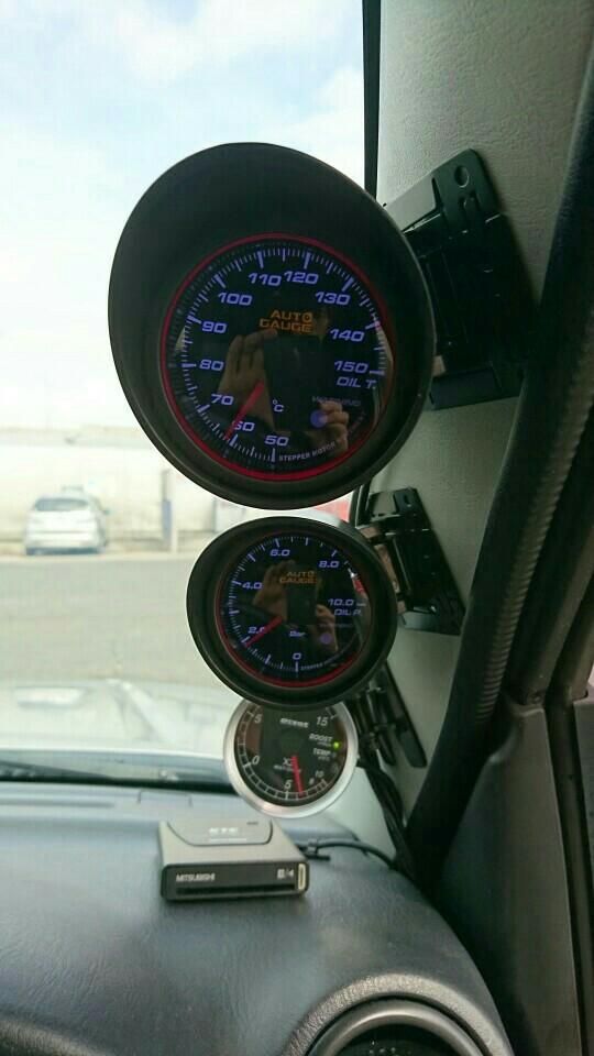 AutoGauge 458シリーズエンジェルリング油温計 60mm