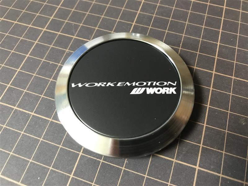 WORK WORKEMOTION センターキャップ フラットタイプ ブラック KWM-FMB