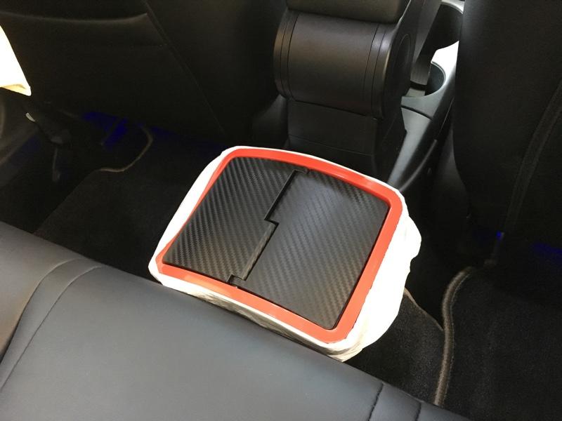 CAR MATE / カーメイト おもり付ゴミ箱 カーボン調 レッド/DZ309