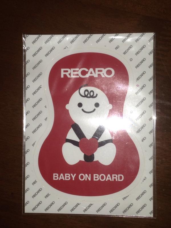 RECARO ON BOARD STICKER