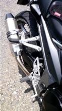 Bandit1250FLCIPARTS ヘキサゴンカーボンエンドステンレススリップオンマフラーの単体画像