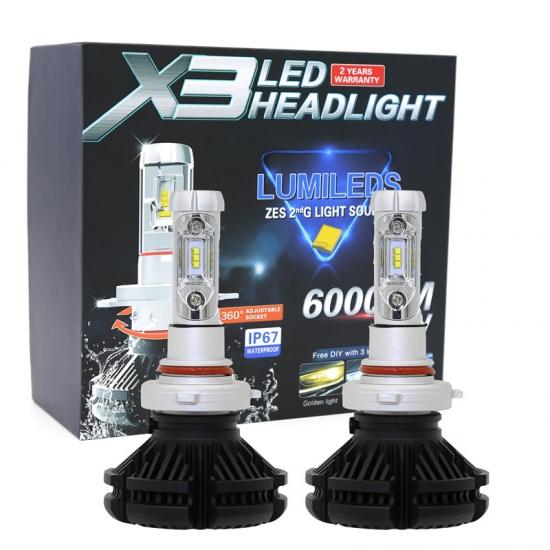 不明 PHILIPS製ZESチップ搭載 LEDヘッドライト HB3 オールインワン一体型 6000Lm