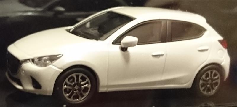 マツダエース㈱ マツダコレクション モデルカー 1/64 デミオ 2014 スノーフレークホワイトパールマイカ