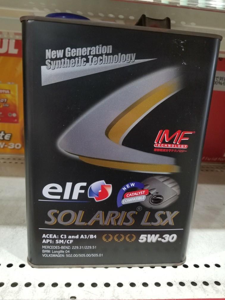 elf SOLARIS LSX 5W-30