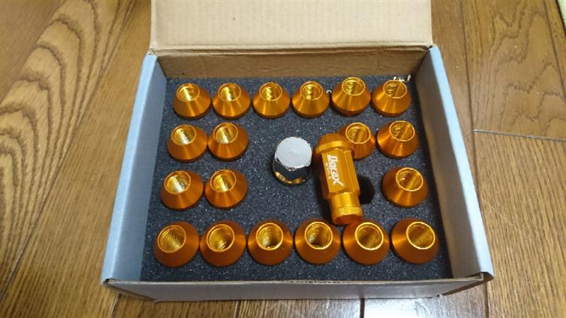 デュラックス(Durax) ホイールナット 20個セット アルミ製 ロックナット付 P1.5 M12 50mm 袋型 金 BBP150KLFR