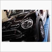 """BMW MINI(純正) ヘッド・ライト・リング""""ブラックライン"""""""