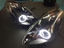 ジュリエッタメーカー・ブランド不明 ヘッドライト インナーマットブラック+イカリング加工の全体画像