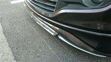 ソリオ自作 アルミアルマイトクリアーアンダースポイラー + ヤフオク・カーボン調モールの単体画像