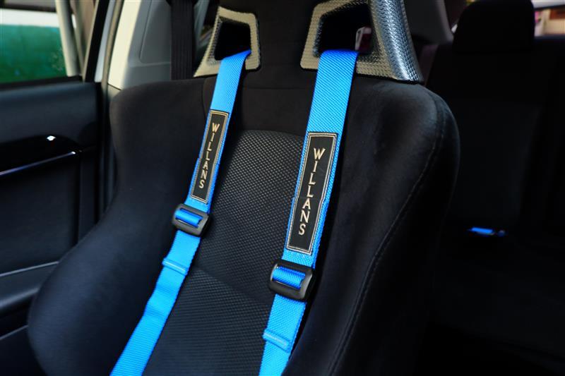 WILLANS 4点式シートベルト<ブルー>