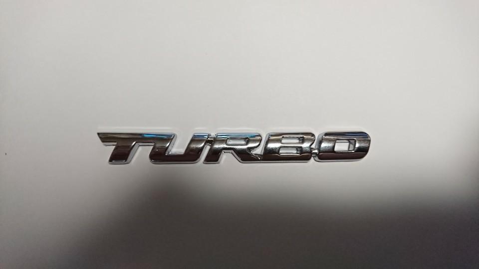不明 TURBO 3Dエンブレム