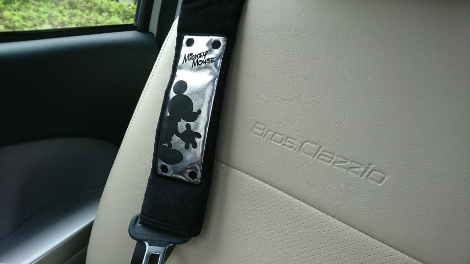 NAPOLEX WD-168 シートベルトパッド <ミッキー>