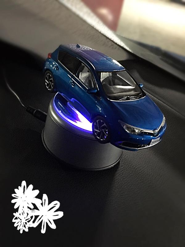 日興インターナショナル 【新型LEDチップ・NKLS-2SL+AL-051UK】 LEDライトターンテーブル 回転台座 ミラータイプ ACアダプターセット