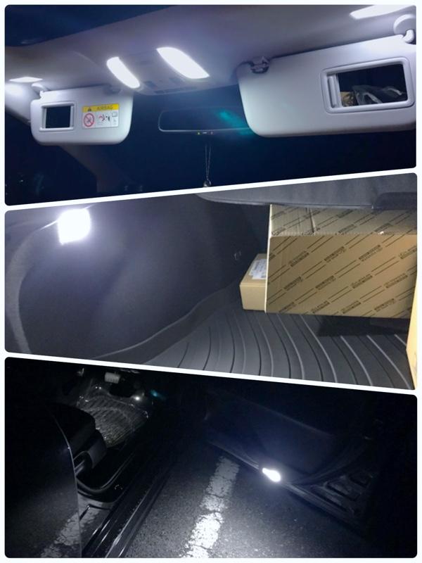 TORASUKO  ぴったり設計サイズ LED ルームランプ プリウス PRIUS 50系 ムーンルーフ有り車用