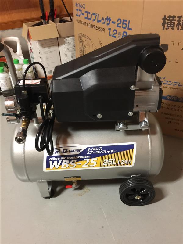 シンセイ(エアツール類) オイルレスコンプレッサー WB-25