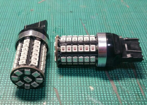 REIZ TRADING T20 LED ダブル 爆光LED57発 2835チップ レッド 無極性