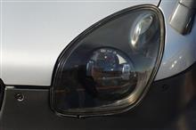 ビークロスメーカー・ブランド不明 ハーレー用LEDヘッドライトユニット(初代)の単体画像