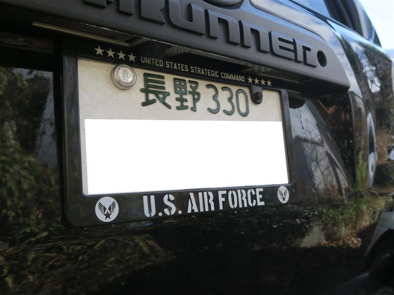 不明 US AIR FORCE風 ナンバーフレーム