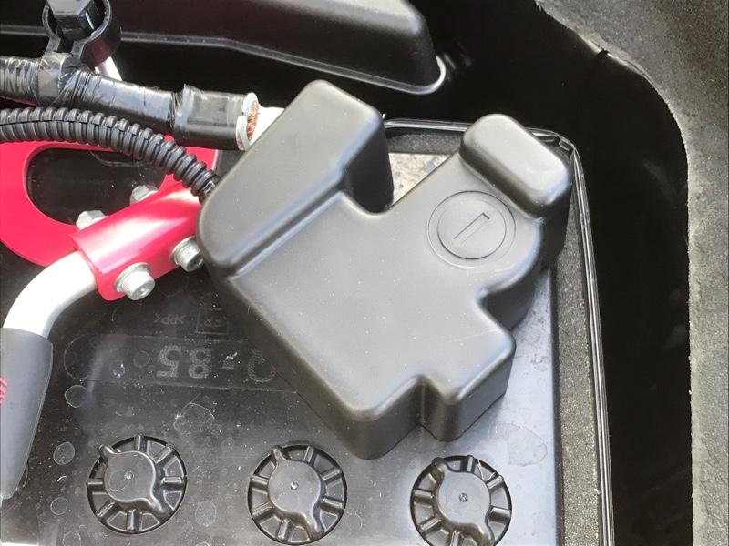 AXISパーツ スバル専用/バッテリーマイナス端子カバー