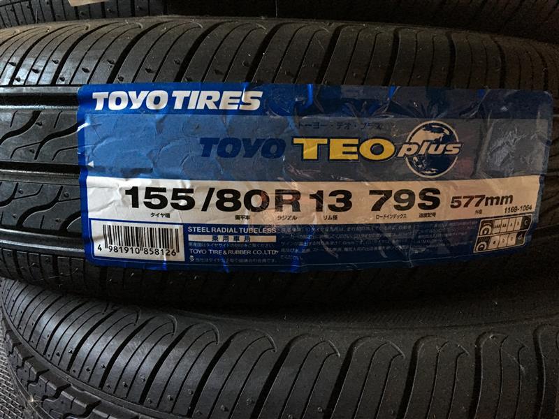 TOYO TIRES TOYO TEO plus TOYO TEO plus 155/80R13