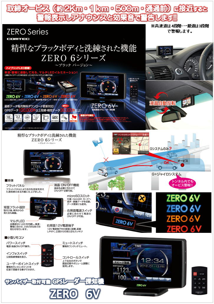 COMTEC ZEROシリーズ ZERO 6V