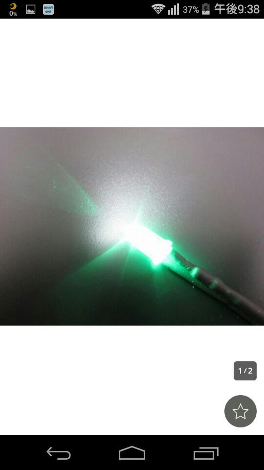 自主製作品 LED 砲弾型 抵抗、線付き5mm 緑