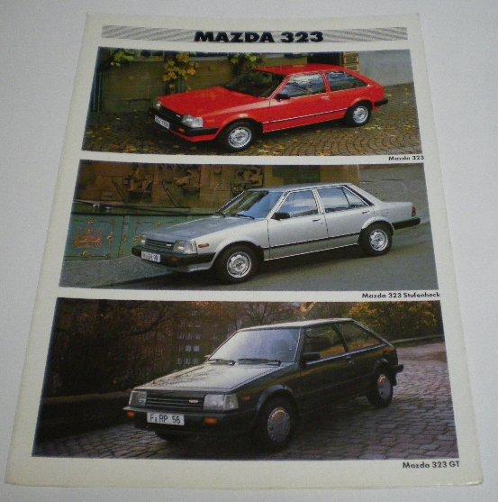 マツダ(純正) Mazda323カタログ その5