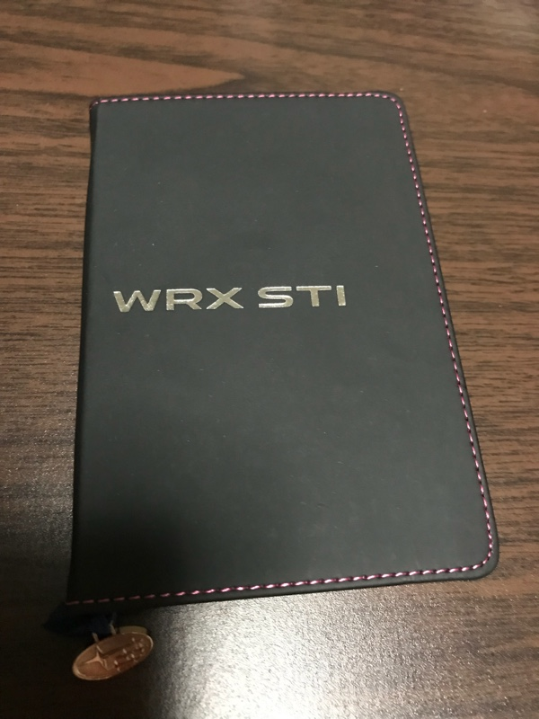WRX STI 手帳