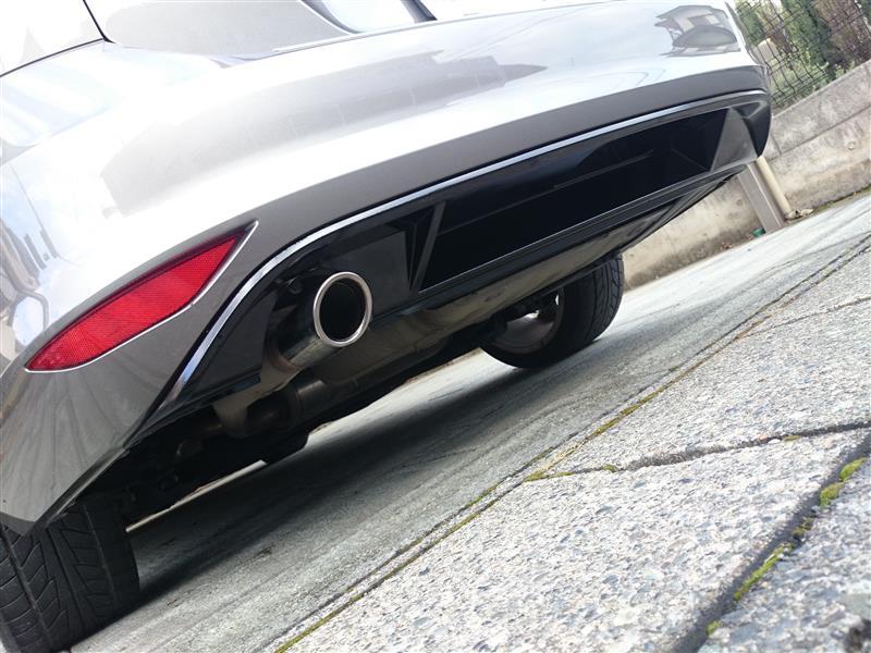 VW  / フォルクスワーゲン純正 リアバンパー ロアスポイラー ピアノブラック化