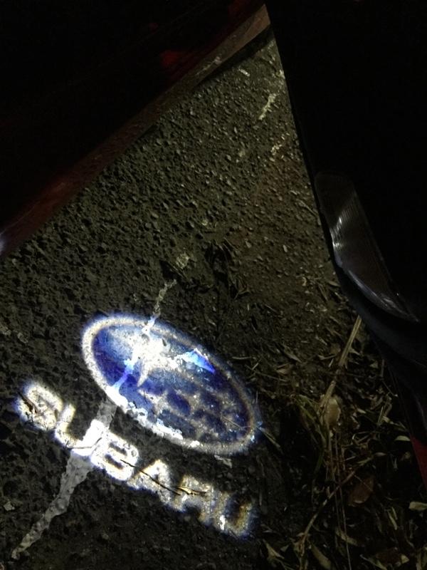 MUFENGKA SUBARU 高品質 LED レーザーロゴライト ウェルカムライト 2個セット K001-86