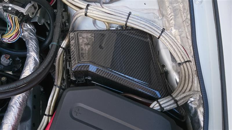 AXIS-PARTS ドライカーボン製ヒューズBOXカバー st127
