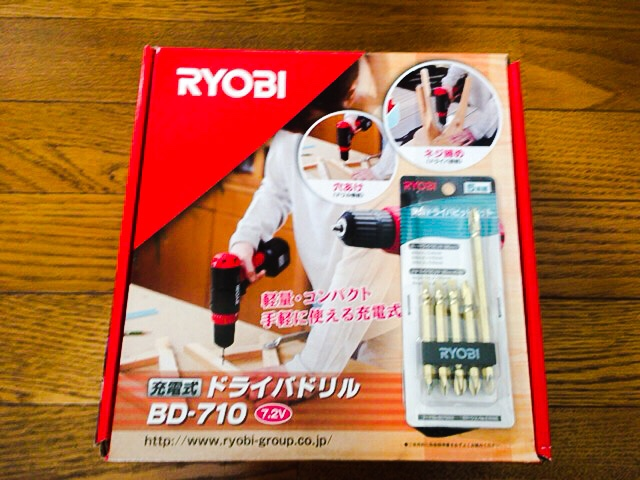 RYOBI 充電式ドライバドリル