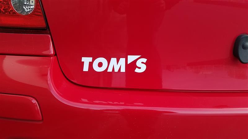 TOM'S TOM'S ロゴステッカー