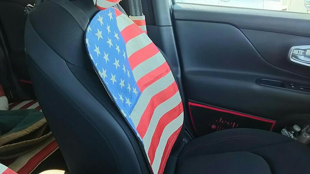 アメリカ雑貨 星条旗模様シート背面マット