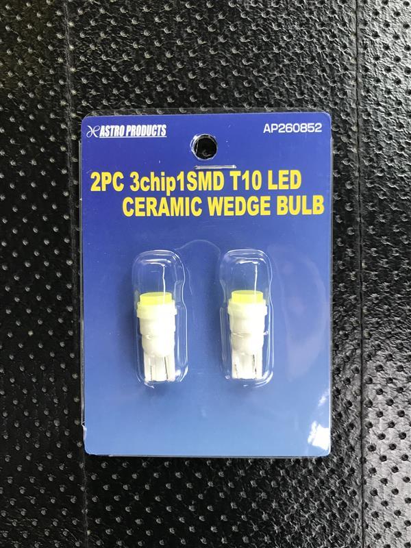 ASTRO PRODUCTS(アストラプロダクツ) 2PC 3chip1SMD T10 LEDセラミックウェッジバルブ