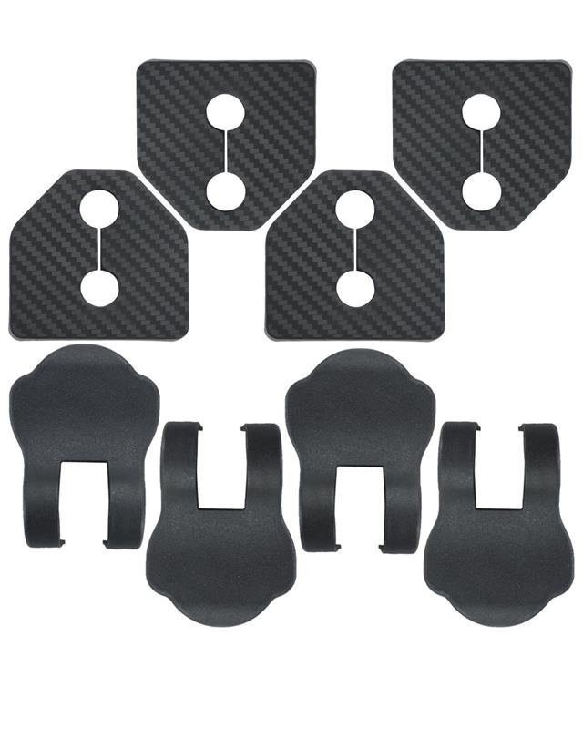 Negesu(ネグエス) スバル ドア ストライカー カバー カーボン黒 / ストッパーカバー 黒