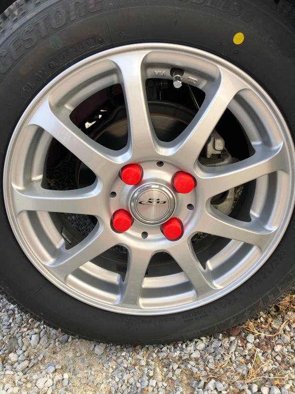 AUTOMAX izumi ナットカバー(20個) 赤19mm//レッド 19HEX 19ミリ シリコンホイールナットキャップ