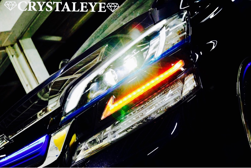CRYSTALEYE  / Sequential winker build-in  L style LED headlight garnish 【pre-view】